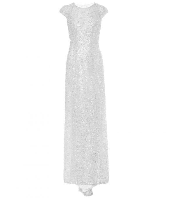 Estrella sequined bridal gown