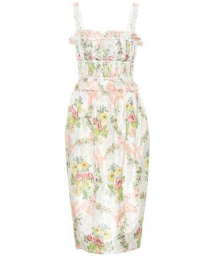 Exclusive to Mytheresa - Palmira floral silk-blend dress
