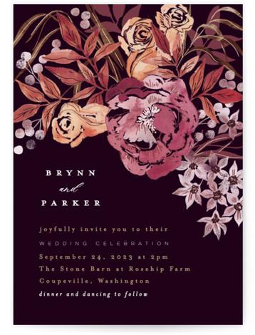 Fall Floral Wedding Invitations