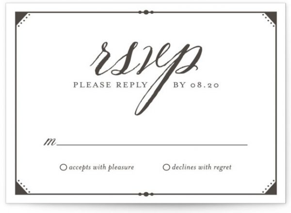Fanciful Names Letterpress RSVP CardsP Cards