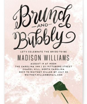 Fancy Brunch Foil-Pressed Bridal Shower Invitations