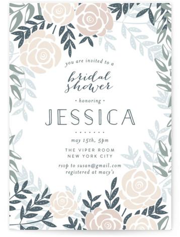 Fantasy Floral Bridal Shower Invitations