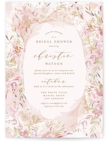 Fantasy Floral Bride Bridal Shower Invitations