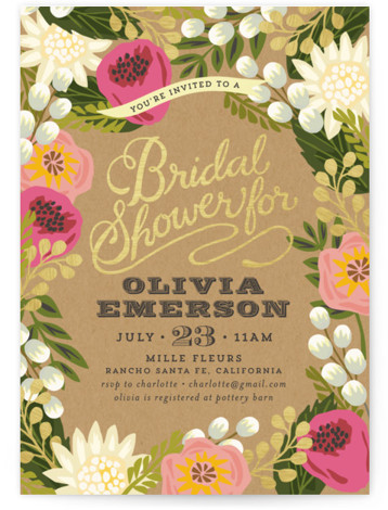 Floral Canopy Bridal Shower Invitations
