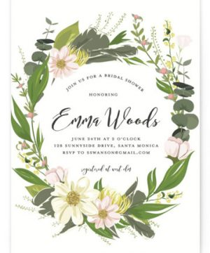 Floral Love Bridal Shower Invitations