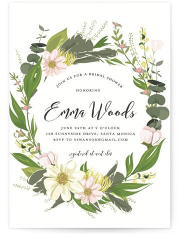 Floral Love Bridal Shower Invitations