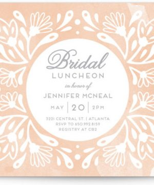 Flourishing Blooms Bridal Luncheon Bridal Shower Invitations