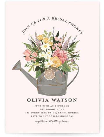 Flowers & Greens Bridal Shower Invitations