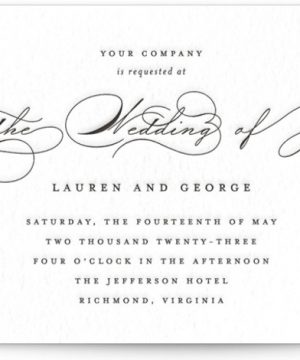 Flutter Letterpress Wedding Invitations