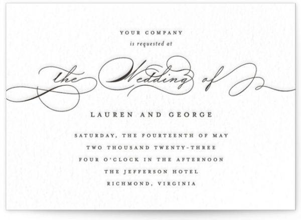 Flutter Letterpress Wedding Invitations