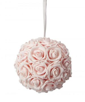 "Foam Rose Ball 8"" - 12 Pieces - Blush"