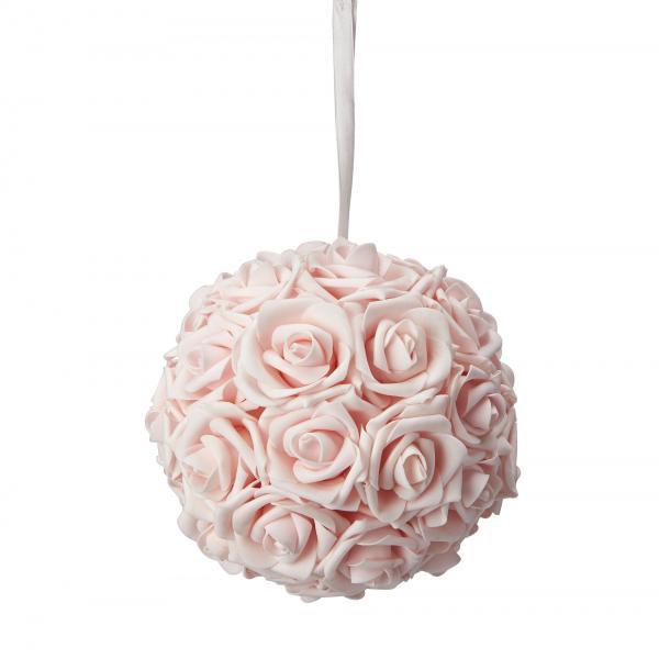 "Foam Rose Ball 8"" - 12 Pieces - Blush"
