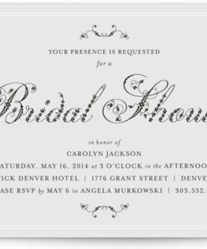 Formal Fleur Bridal Shower Invitations