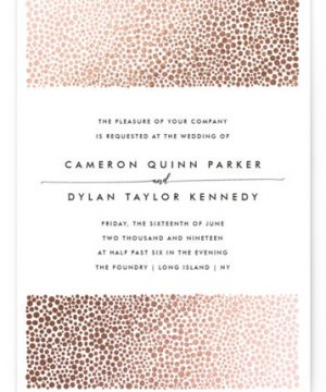 Foundry Foil-Pressed Wedding Invitations