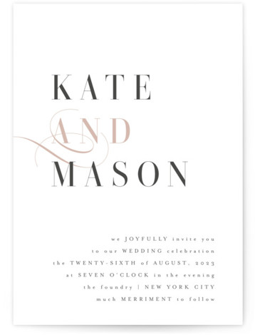 Foundry Wedding Invitations