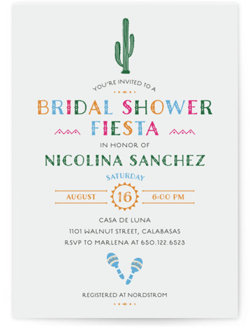 Fun Fiesta Bridal Shower Invitations