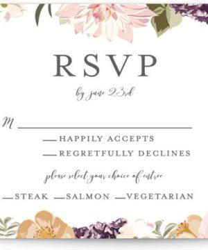 Garden Wedding RSVP Cards