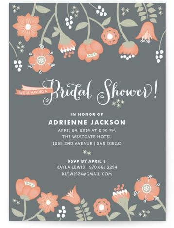 Garden Whimsy Bridal Shower Invitations