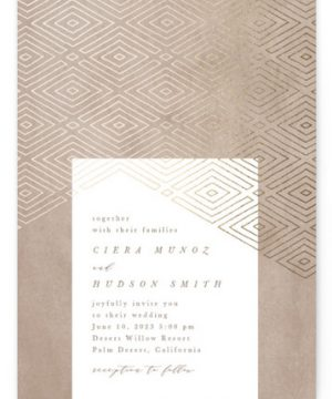 Geometrica Foil-Pressed Wedding Invitations