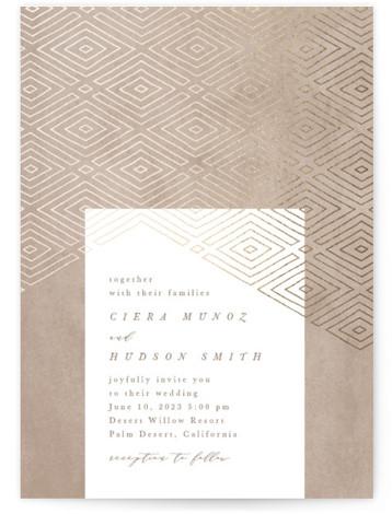Geometrica Foil-Pressed Wedding Invitations