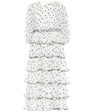 Georgette tiered midi dress