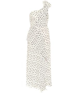 Giza polka-dot midi dress