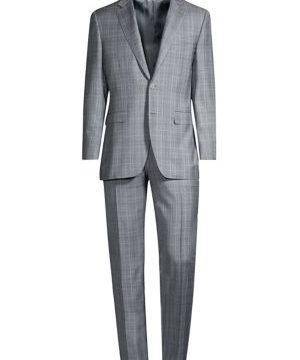 Glen Plaid Wool Suit