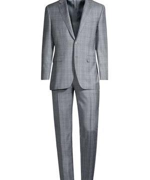 Glen Plaid Wool Suit