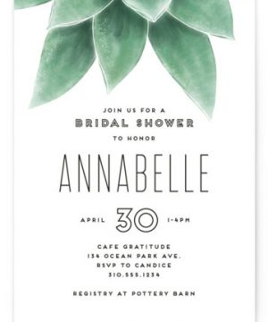 Greenery Bridal Shower Invitations