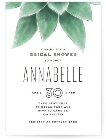 Greenery Bridal Shower Invitations