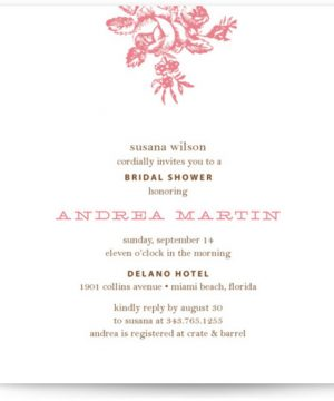 Haute Affair Bridal Shower Invitations