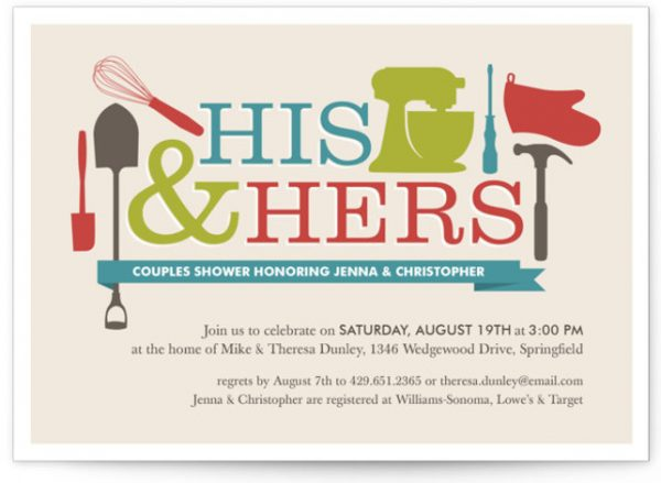 Household Mix Up Bridal Shower Invitations