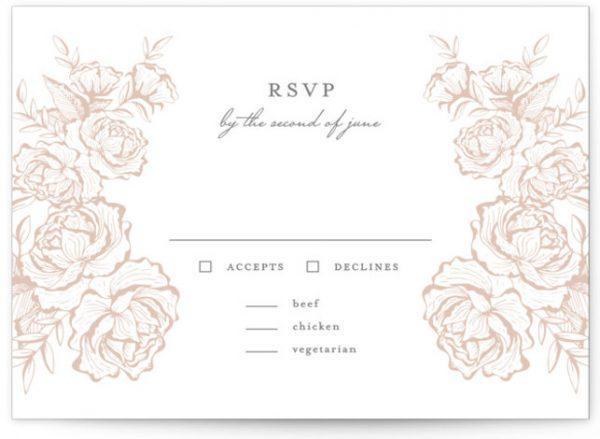 In Bloom Letterpress RSVP CardsP Cards