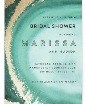 In The Stone Foil-Pressed Bridal Shower Invitations