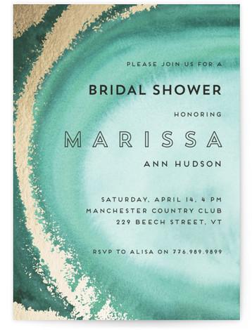 In The Stone Foil-Pressed Bridal Shower Invitations