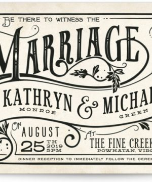 Inked Wedding Invitations