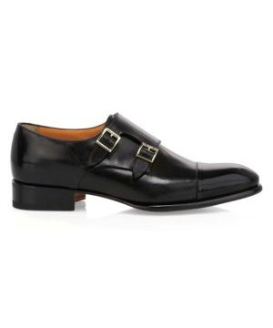 Ira Double Monk Strap Leather Dress Shoes