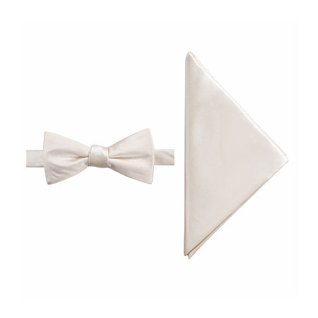 JF J.Ferrar Bow Tie Set, One Size , White