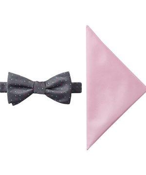 JF J.Ferrar Dots Bow Tie Set, One Size , Pink