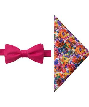 JF J.Ferrar Floral Bow Tie Set, One Size , Multiple Colors