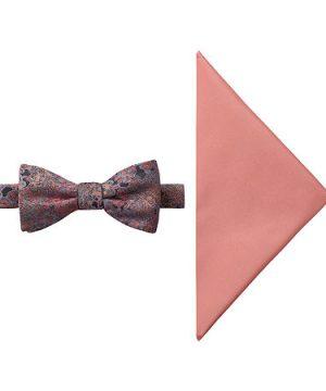 JF J.Ferrar Floral Bow Tie Set, One Size , Orange