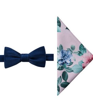 JF J.Ferrar Floral Bow Tie Set, One Size , Pink