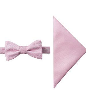 JF J.Ferrar Paisley Bow Tie Set, One Size , Pink