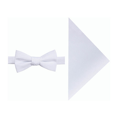 JF J.Ferrar Prom Bow Tie Set, One Size , White