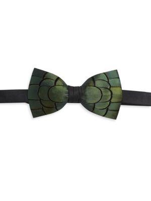 Jeffrey Pheasant Feather Bow Tie