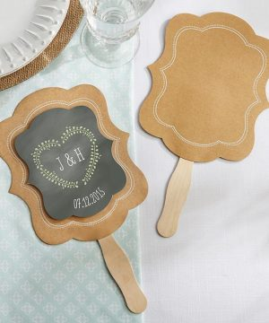 Kraft Hand Fan-Set of 12 (Personalization Available)