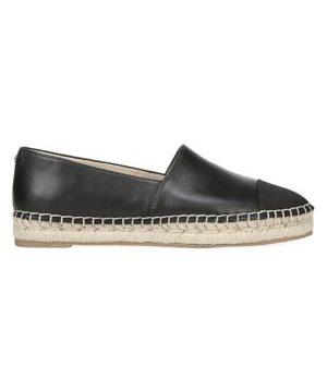 Krissy Leather Slip-On Espadrilles