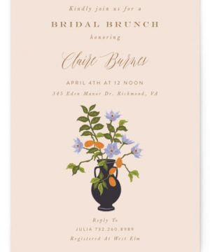 Kumquat Bridal Shower Invitations