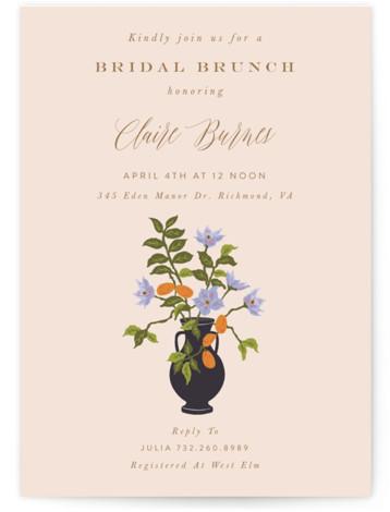 Kumquat Bridal Shower Invitations
