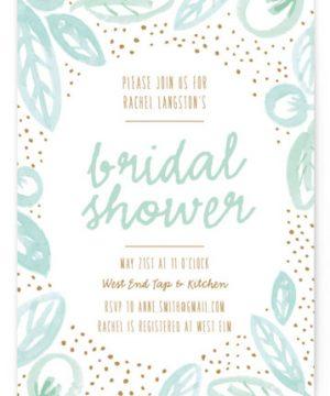 Lakeside Floral Bridal Shower Invitations